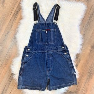Tommy Hilfiger Vintage Jean Short Overalls Size M